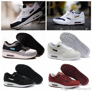 Nike air max 1 2017 HOT عالية الجودة رجل إمرأة كلاسيكي 90 أحذية عارضة أسود أبيض رجل إمرأة حذاء رياضة رجل المدربين المشي اجواء الرياضة حذاء تنس