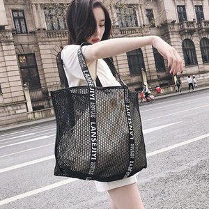 Designer Handbag Mulheres Luxo oca-out Summerc malha Female Bag Único Shoulder Bag Oversize Praia Shopping Bag Vela / 11