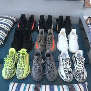 2019 New Mens Boost 350 V2 Sneakers Static Semi Frozen Yellow Cream White 2.0 Women Kanye West Designer Casual Outdoor Sports Running Shoes