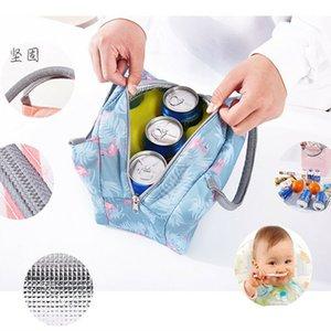 Ev Depolama veya Kuruluş Taşınabilir İzoleli Termal Cooler yemek kutusu Bez Piknik Çantası Kılıfı Renkleri
