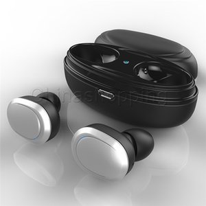 자기 충전기 상자에서 Andriod 스마트 폰과 T12 TWS 트윈스 블루투스 이어폰 스테레오 헤드폰 무선 이어폰