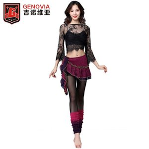 Sexy 2019 Women Belly Dance Costumes Top+Hip Scarf Hot Sale Girls Club Stage Costume Latin Rumba Tango Outfits Training Suit