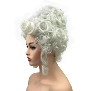Brand New Fiber hair wigs Synthetic Curly Hair Wig Marie Antoinette Wig Women Cosplay Wigs For Halloween Party 227
