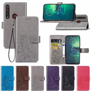 Di cuoio di lusso di caso di vibrazione per Moto G8 più la cassa del fiore 3D della carta del raccoglitore della copertura per il Motorola Moto G8 Inoltre Telefono Funda copertina