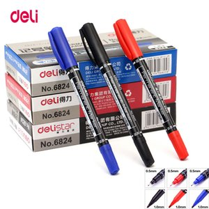 لذيذة 12PCS ملون مزدوج طرف 0.5 / 1 ملم سريع جاف علامة أقلام علامة دائمة للنسيج fineliner جودة النسيج للرسم