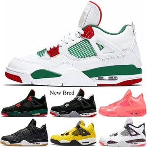 2019 Bred 4s Chaussures de basket-ball Lightning Pale Citron Hot Punch LASER Pizzeria Monarchie Alternate 89 4 Hommes Baskets de sport pour homme 7-13