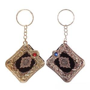 Vintage Mini Ark Quran-Buch Keychain arabischen moslemischen Schlüsselanhänger Taschen-Geldbeutel-Auto-Schlüssel-Anhänger Zubehör Crafts Schlüsselringe Schmucksache-freies DHL M177F