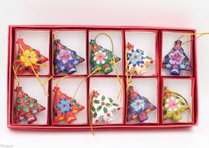 Charms enfeites de Collectibles 10pc chinês Cloisonne / Enamel Natal Decor