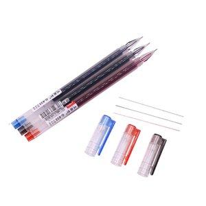 Bannière pas cher Stylos 12 Pcs Pen Gel 0.38 mm grande capacité d'encre trois couleurs d'encre Couleur Options de Rouge Bleu Noir Étudiant Papeterie