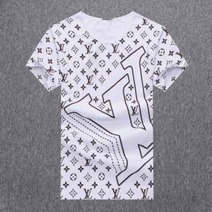 Luxus Medusa gedruckt Monogramm Art und Weise T-Shirt Sommer atmungsaktiv T-Shirt lässig einfache Männer und Frauen Straße kurzer Ärmel
