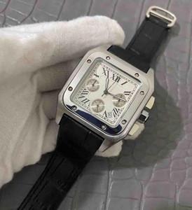 Platz Armband Gold-Quarz-Stunden-Top-Qualität Luxuxquarz Uhr TAG DATUM Mens volle Funktions Uhr Leder Lünette Schmetterling Armband-