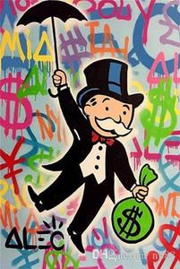 Di alta qualità dipinta a mano HD Stampa Pittura Alec monopolio dei graffiti del fumetto Pop Art Olio su tela C1 casa arte della parete dercor G234 200311