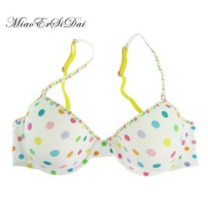 MiaoErSiDai nouvelles couleurs Dot Cotton Bras pour les femmes Brassiere Imprimé Sous-vêtements confortable