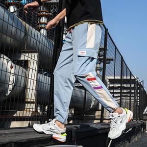 YASUGUOJI 2020 Hip Hop primavera Joggers Hombres Harem Multi-bolsillo cintas hombre pantalón Streetwear pantalones casuales para hombre M-5XL