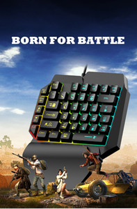 Game mechanical keyboard for mobile legend PUBG Mobile gaming keyboard with RGB backlight One hand RGB keyboard