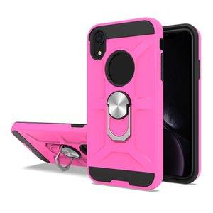 Для Samsung S10 J4 J6 S8 S9 J7 Plus Note8 9 J2 сердечник 360 ° вращения Металлического кольца противоударных защит Магнитного ПК TPU Брони телефон крышка случая