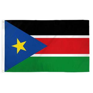Süd-Sudan-Flagge Banner 3x5 ft Polyester Drucken Doppelnaht Around Fliegen Hängen 90x150cm Flags Indoor Outdoor Nutzung