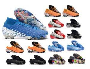 2020 Shoes Mercurial Superfly VI 360 Elite FG KJ 13s CR7 Ronaldo Mens alta Futebol 13 Low Botas de Futebol chuteiras Tamanho 39-45