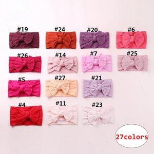 Детские мягкие повязки для волос Kids Girl Boutique с головным убором из сплошного цвета для детей, летние аксессуары для волос 27 цветов