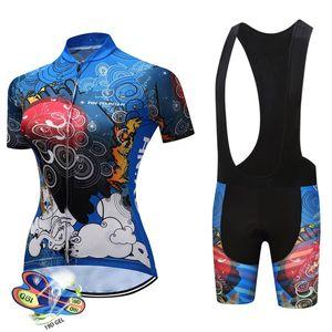 2019 Pantaloncini con bretelle da ciclismo da donna estivi triathlon estate Set abbigliamento bici ad asciugatura rapida mtb Maillot Cycling Ropa ciclismo