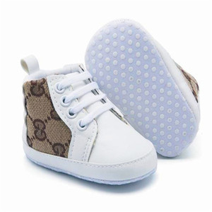Designer Baby First Walker High Quality Baby Sneakers New Born Baby Girls Boys Soft Sole Shoes Toddler Kids Prewalker Infant Casual Shoes