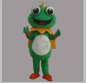 2019 Factory hot new Super Hot Frog Prince Mascot Costume Fancy Dress EPE