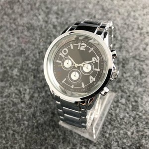 Fashion men's analog quartz watch large dial steel belt men's watch 2019 brand ladies watch luxury casual men and women watches