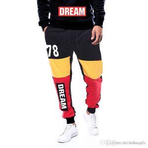 SOGNO 78 pantaloni da uomo di sport Primavera Autunno Inverno Casual rappezzatura di colori dei pantaloni della matita
