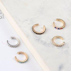 1PC Minimalist CZ Ear Cuff Jewelry Clip-on Earrings No Piercing Korean Gold Earcuff Not Pierced Cricle Hoop CZ Ear Cuff Jewelry