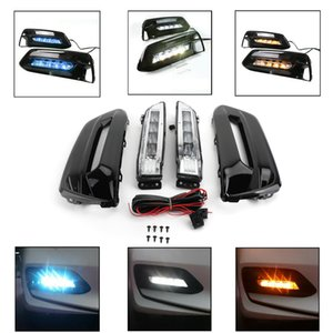 Areyourshop 1SET 전면 범퍼 LED 안개등 조립 DRL 혼다 어코드 2,018에서 2,019 사이 안개등 조립 자동차 액세서리 3 색