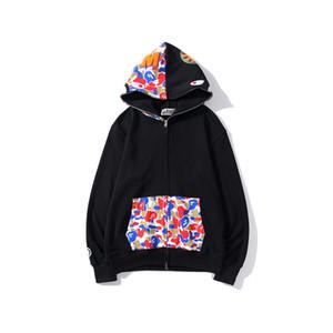 Casual Hip Hop capa de la chaqueta con capucha de Camo del nuevo de la llegada mujeres de los hombres de Colorblock Impreso sudadera con capucha de los hombres de