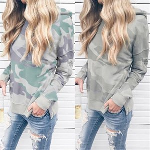 Camouflage Womens Long Sleeve Hoodies Loose O Neck Pullover Sweatshirts High Street Spring Summer Women Designer Clothing