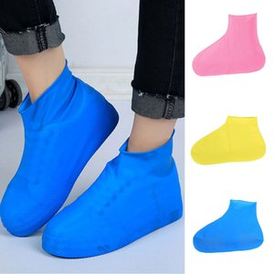 Unisex Waterproof Boot Covers Disposable Elastic Latex Rain Boot Cover Snow Non-Slip Shoe Covers - Size M (26 X 17 X 0.2 Cm)