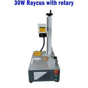 caliente-CNC del estilo de división Raycus 30W con fibra de láser rotatorio máquina de la marca para la venta