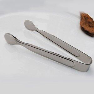 الجملة الجديدة الفولاذ المقاوم للصدأ الشواء BBQ كليب الخبز الغذاء الجليد المشبك الجليد تونغ شريط الأدوات مكملات مطابخ