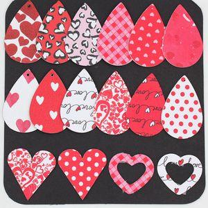 Favore XD23100 Giorno Pelle orecchini leggero Faux orecchini a goccia ORECCHINI partito regali festa di San Valentino