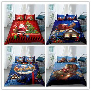 3Д корабль падения постельных принадлежностей пододеяльник комплект Рождественский дед Санта-представлена реверсивный одеяло пододеяльник одноместный двухместный Король