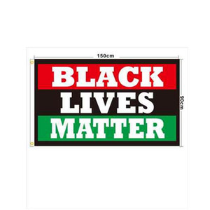 50pcs 90x150cm BLACK LIVES MATTER Banners Black Protest Banner I Can't Breathe Flag American Parade Flags