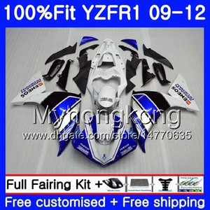 Injection For YAMAHA YZF 1000 R 1 factory blue hot YZF-1000 YZFR1 09 10 11 12 241HM.5 YZF R1 YZF1000 YZF-R1 2009 2010 2011 2012 Fairing Kit