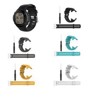 Nueva venta correa de reloj de silicona correa de repuesto para SUUNTO D6 Dive / D6i NOVO / ZULU correa de muñeca Correa Smart Watch accesorios de banda