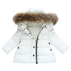 baby cotton coat fur hooded solid classic thick warm down coat for 1-8years kids children boys girls Winter jacket coat