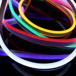 네온 LED 스트립 플렉스 로프 빛 방수 IP67 미니 LED 12V TV 주차 유연한 리본 야외 조명