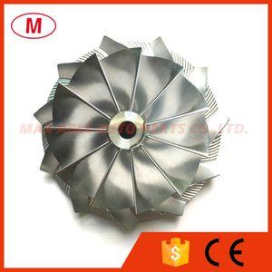 HX40 67.00 / 89.00mm 11 + 0 palas Racing Turbo del alto rendimiento del billete rueda del compresor / Aluminio 2618 / rueda de fresado para Turbocompresor cartucho