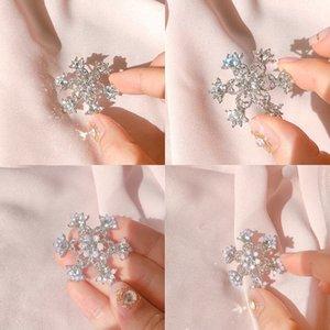 Snowflake colori puri a gomito nobile ed elegante brillante adatto per le ragazze della fascia bei capelli clip di capelli
