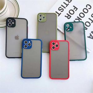2020 Best Selling mobile Accessori sensibilità della pelle di caso per la copertura del PC iphone11 texture opaca del telefono + TPU glassata della cassa del telefono 10 colori