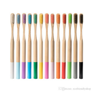 Многоразовый зубная щетка бамбук деревянная круглые ручки трудно щетина с Kraft боксировать дешево путешествие отель экологически чистым