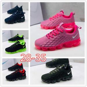 nike air max airmax vapormax bambino Kpu Knitting bambini portatili esecuzione scarpe per bambini pattini dell'ammortizzatore di delle ragazze dei ragazzi di formazione Sneakers