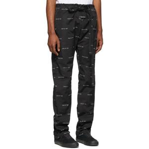 Logo Temed a Dios FG Moda completa Impresión de pantalones casuales pantalones largos de los pares delgadas para hombre de las mujeres de alta calidad de los pantalones HFXHKZ028
