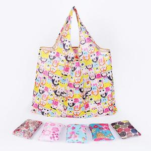 Nuovo Tote Bags Grande capacità Spedizione gratuita Impermeabile Pieghevole Shopping Bags Riutilizzabile Sacchetto di immagazzinaggio Eco Friendly Shopping Bags DH0388