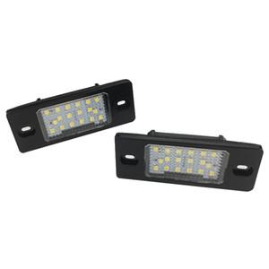 2pcs 18 LED Numéro de plaque d'immatriculation de la lampe LED pour Porsche Cayenne VW GOLF 5 Touareg Triple Tail Canbus Auto Lighting Source